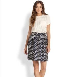Blue Spade Dot Jacquard Skirt